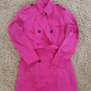 Vince Camuto Pink Trench Coat